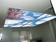 Light Blocking Led Covers Skypanels Turn Your Ceiling Light Panels Into An Image Of