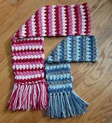 crochet kids crochet pattern mod scarf 3 sizes toddler child