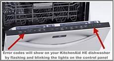 Kitchenaid Dishwasher Troubleshooting Clean Light Kitchenaid Dishwasher Error Fault Codes For He Model