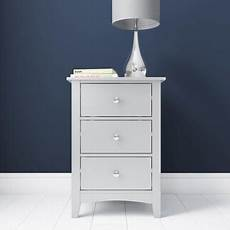 buy finch 3 drawer bedside cabinet in light grey from