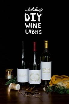 Homemade Wine Labels Diy Holiday Wine Labels With Free Downloadable Graphics