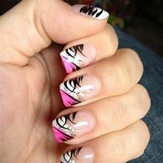 Black White And Pink Nail Designs Pink Black And White Nail Design Pink Nail Designs