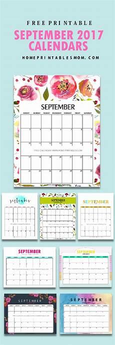 Free Printable September Calendar Calendar September 2017 8 Free Pretty Printables Home
