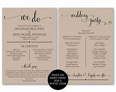 Wedding Ceremony Program Template Free Wedding Program Template Wedding Program Printable We Do