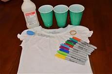 How To Make A Black Light Shirt Theartgirljackie Tutorials Tie Dye T Shirts With Sharpie