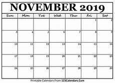 November Calendar Printable November 2019 Printable Calendar 123calendars Com