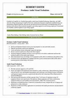 Visual Designer Resume Sample Audio Visual Technician Resume Samples Qwikresume