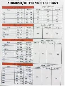 Airowear Size Chart Airowear Airmesh Body Protector Junior