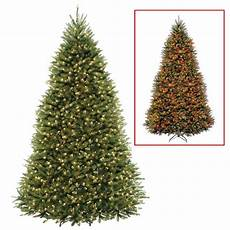 Home Depot Trees With Lights National Tree Company 9 Ft Dunhill Fir Artificial
