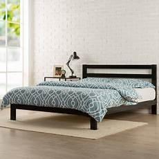 zinus 10 quot metal platform bed with headboard