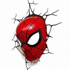 Mjolnir Night Light Spider Man Mask 3d Decorative Wall Lamp Spiderman Plug