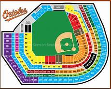 Camden Yards Seating Chart Detailed Oriole Park At Camden Yards Baltimore Md Seating Chart View
