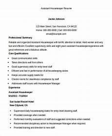 Housekeeping Aide Resume Residential Housekeeper Resume Sample