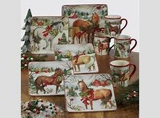 Certified Intl Christmas on the Farm Dinnerware by Susan