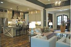 paint colors for open concept living room and kitchen