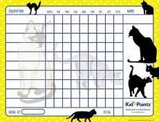 Cat Behavior Chart Cat Theme Printable Behavior Chart For Kids Behaviour