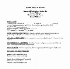 College Resume Examples For High School Seniors High School Resume Template 9 Free Word Excel Pdf