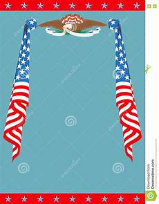 Patriotic Template Us Flag And Eagle Patriotic Border Template Stock Vector