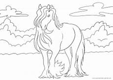 das neunte ausmalbild mit pferd kostenlos