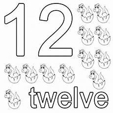 Malvorlagen Englisch Kostenlose Malvorlage Englisch Lernen Twelve Zum Ausmalen