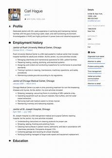Janitorial Skills Janitor Resume Amp Writing Guide 12 Examples Pdf 2020