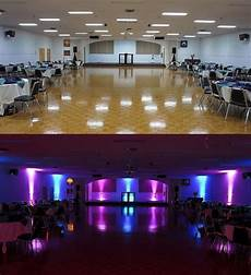 Wireless Event Lighting Wireless Uplighting Before After By The Wedding Dj