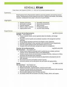 Resume Summary For Retail Best Retail Customer Service Representative Resume Example