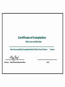 Completion Certificate Sample Certificate Of Completion 5 Free Templates In Pdf Word