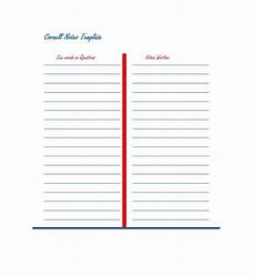 Cornell Notes Word Template 36 Cornell Notes Templates Amp Examples Word Pdf
