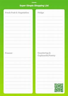 Printable Shopping List Template Make Your Own Printable Grocery List Template Listonic