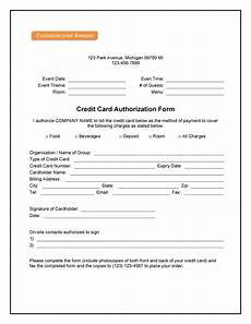 Credit Card Payment Form Template 41 Credit Card Authorization Forms Templates Ready To Use