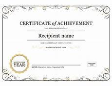 Certificates Of Achievement Free Templates Certificate Of Achievement