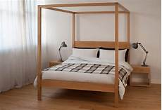 Bed With Posts Orchid Four Poster Bed Solid Wood Bed Company