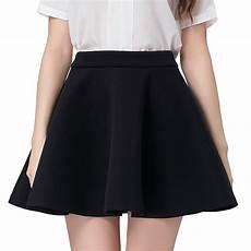 faldas kort black skater skirt 2017 summer womens high waist mini