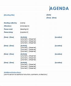Template Of An Agenda Agenda Outline Templates 10 Free Word Pdf Format