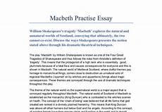 Macbeth Essay Conclusion Essay Of Macbeth Buy A Term Paper