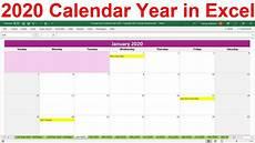 Calendar Excel Template 2020 2020 Excel Calendar Template 2020 Planner Spreadsheet