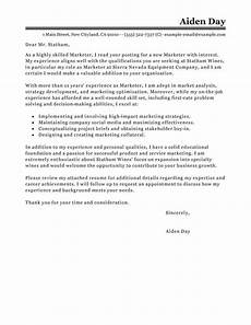 Cover Letter Examples Marketing Best Marketing Cover Letter Examples Livecareer