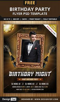 Free Party Flyer Template Free Birthday Party Flyer Psd Template Designyep