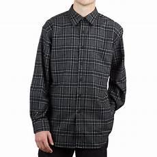 pendleton lodge sleeve shirt black grey weave