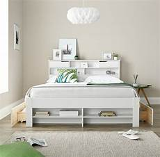 fabio white wooden 2 drawer bookcase storage bed