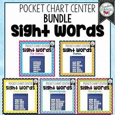 Sight Words Pocket Chart Sight Word Pocket Chart Center Bundle High Frequency