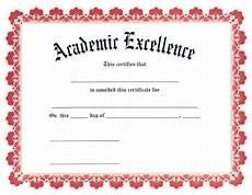 Academic Award Certificate Award Certificates