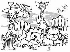 Malvorlagen Tieren Jungle Animal Coloring Pages To And Print For Free