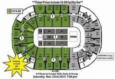 St Charles Family Arena Seating Chart With Seat Numbers 4 Amp 20 A Tribute To Crosby Stills Nash Amp Young