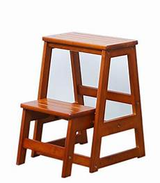 step stool solid wood multi function ladder chair home