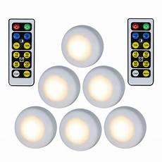 6pcs wireless led closet lights warm white light dimmable