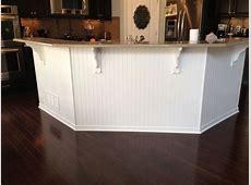 Bead board under kitchen island.   Wooden kitchen floor, Kitchen flooring, Kitchen decor