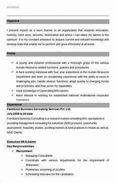 Sample Resume Of Admin Executive Free 26 Hr Resume Templates In Ms Word Pages Pdf Ai