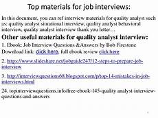 Qa Analyst Interview Questions Quality Analyst Interview Questions And Answers Pdf